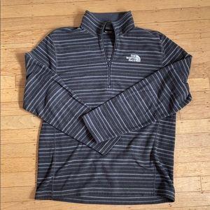Men's gray north face fleece Quarter zip